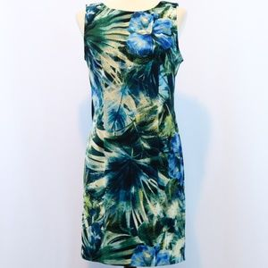 Connected Apparel Tropical Floral Print Dress